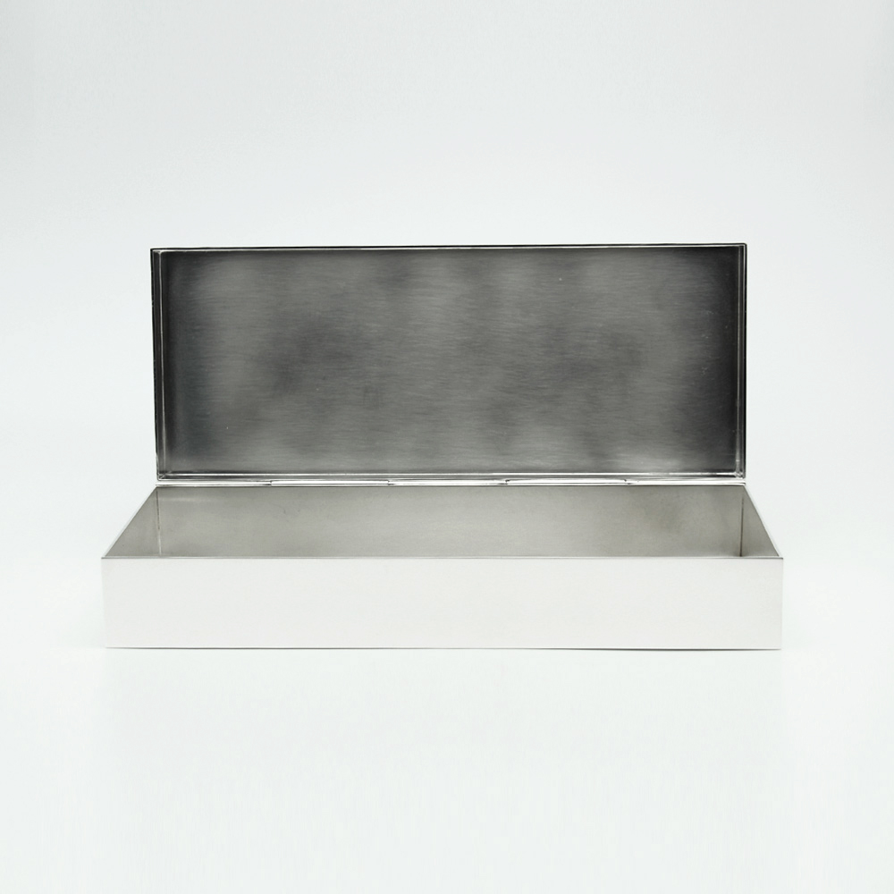 prototype silver metal box