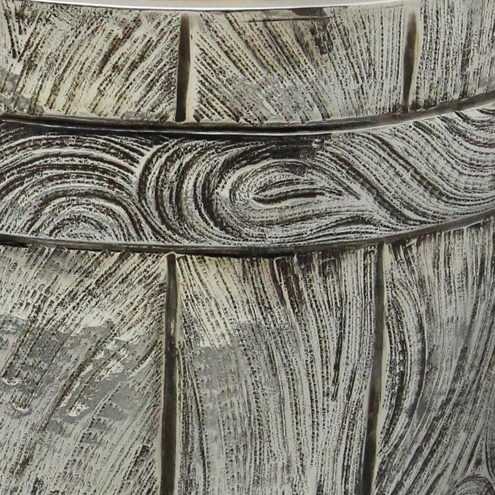 Seau à champagne ciselet bois détail